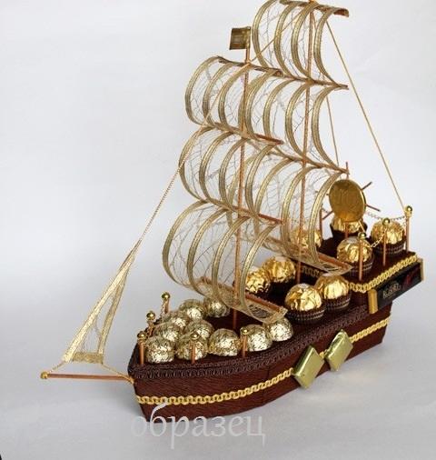 Корабли для мужчин из конфет